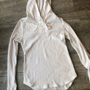 White Hooded Long Sleeve